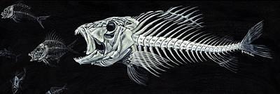 Skeletail Poster by JoAnn Wheeler