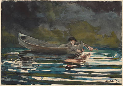 Sketch For Hound And Hunter Poster by Winslow Homer