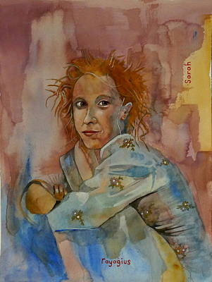 Poster featuring the painting Sketch For Sarah by Ray Agius