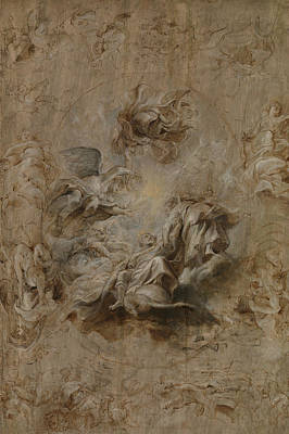 Sketch For The Banqueting House Ceiling Poster by Peter Paul Rubens
