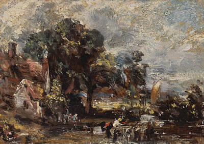 Sketch For The Haywain Poster by John Constable