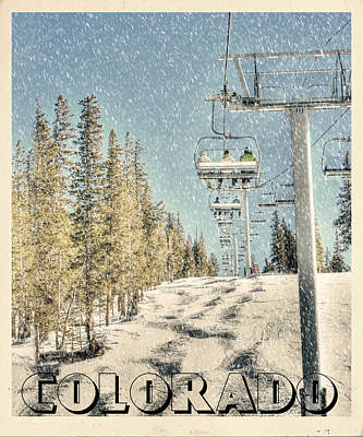 Ski Colorado Poster by Juli Scalzi