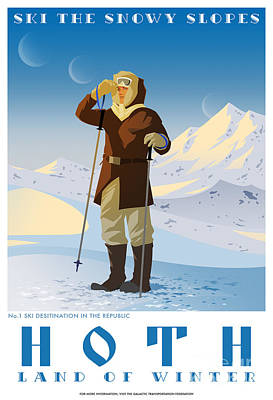 Ski Hoth Poster by Christopher Ables