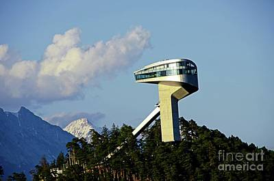 Ski Jumping Tower At Bergisel Innsbruck Austria Poster