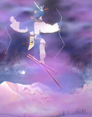 Ski Kachina Bowl Taos New Mexico Poster by Anastasia Savage Ealy