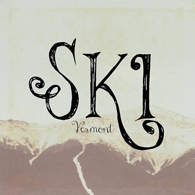 Ski Vermont Poster by Brandi Fitzgerald
