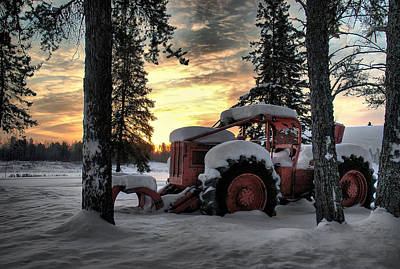 Skidder Sunrise Poster by Heather  Rivet