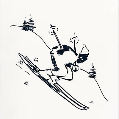 Skier II Poster by Winifred Kumpf