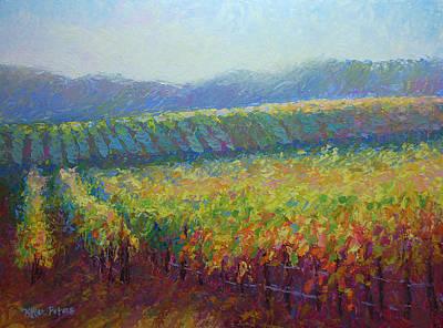 Sonoma County Vineyard Poster by Jill Keller Peters