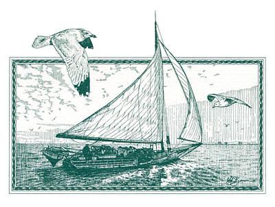 Skipjack Poster by John D Benson