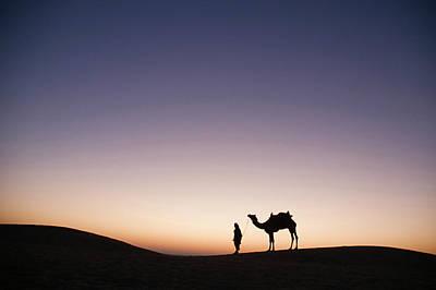 Skn 0860 Dawn At The Dunes Poster by Sunil Kapadia