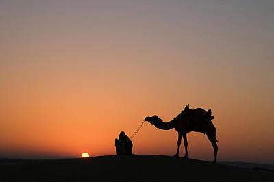 Skn 0870 Silhouette At Sunrise Poster