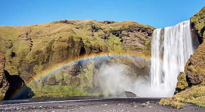 Skogafoss Rainbow - Icelandic Waterfall Poster by Duane Miller