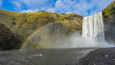 Poster featuring the photograph Skogafoss Rainbow by James Billings