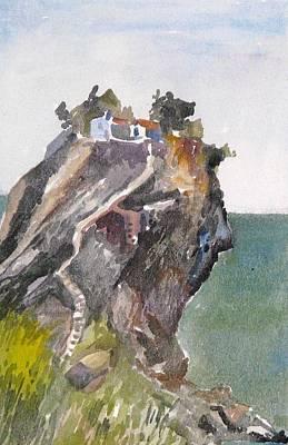 Skopelos Church On The Rock Poster