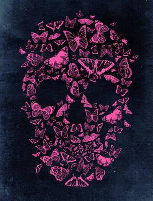 Skull Butterflies Poster