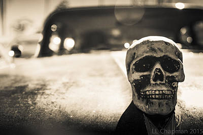 Skull Car Poster by Lora Lee Chapman