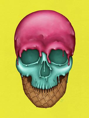 Skull Icecream Poster