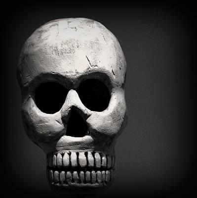 Skull Poster by Joseph Skompski