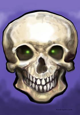 Skull Poster by Kevin Middleton