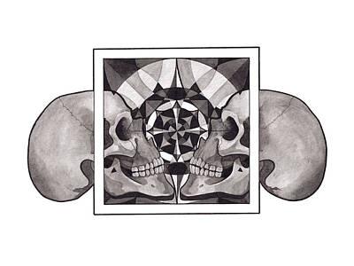 Skull Mandala Series Nr 1 Poster
