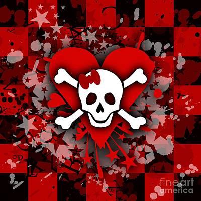 Skull Romance Poster by Roseanne Jones