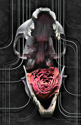 Skullflower Poster by Kalynn Kallweit