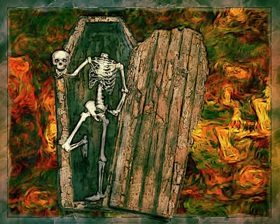 Skullie Poster by Jack Zulli