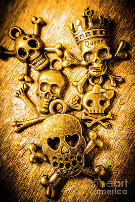 Poster featuring the photograph Skulls And Crossbones by Jorgo Photography - Wall Art Gallery