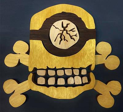 Skull And Crossbones Minion Poster by Michael Bergman