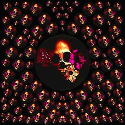 Skulls In The Dark Night Poster