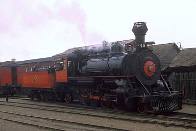 Skunk Train No 45 Fort Bragg California Poster by Brian Lockett