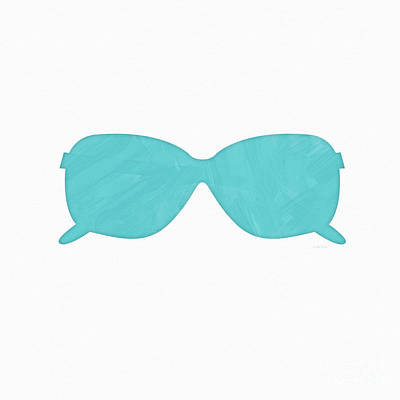 Sky Blue Sunglasses- Art By Linda Woods Poster