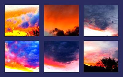 Sky Colours Poster by Joyce Woodhouse