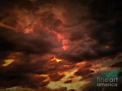 Sky Fury Poster by Krissy Katsimbras
