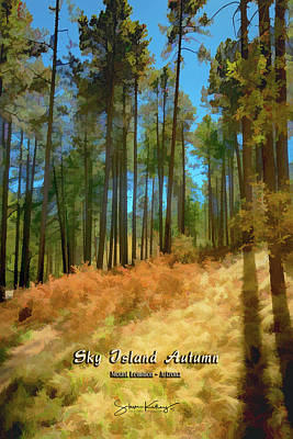 Sky Island Autumn Poster