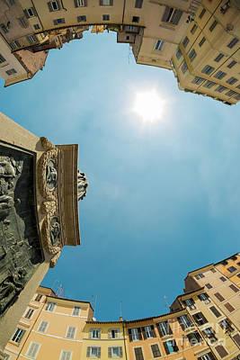 Sky Over Campo Dei Fiori - Rome, Italy Poster