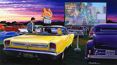 Sky View Drive-in Poster by Bruce Kaiser