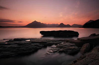 Skye Sunset Afterglow Poster by Grant Glendinning