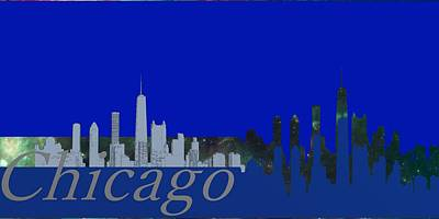 Skyline Chicago 4 Poster by Alberto  RuiZ