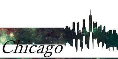 Skyline Chicago Poster by Alberto  RuiZ