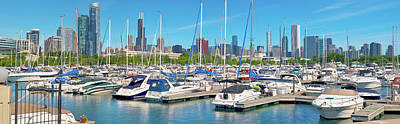 Skyline Harbor Pano Poster by Kevin Eatinger