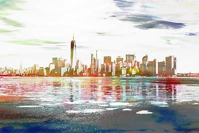 Skyline Of New York City, United States Poster