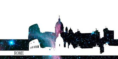 Skyline Rome Poster by Alberto RuiZ