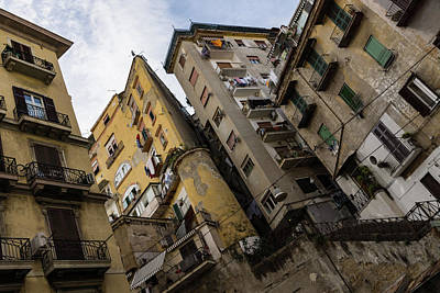 Skyward In Naples Italy - Spanish Quarters Take Four Poster