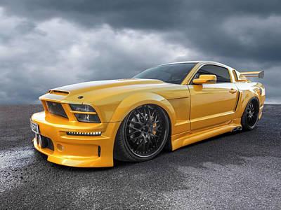 Slammer - Mustang Gtr Poster by Gill Billington