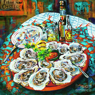 Poster featuring the painting Slap Dem Oysters  by Dianne Parks