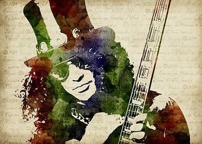 Slash Watercolor Poster by Mihaela Pater