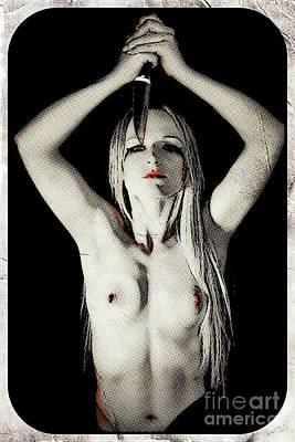 Slasher Queen, Digital Art By Mary Bassett Poster by Mary Bassett