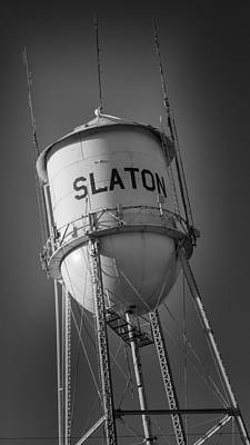 Slaton Texas Water Tower Poster by Stephen Stookey
